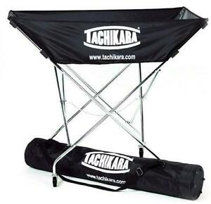NEW TACHIKARA HAMMOCK BALL CART COLLAPSIBLE HAMMOCK BALL CART WITH NYLON CARRY BAG - BLACK 104042447