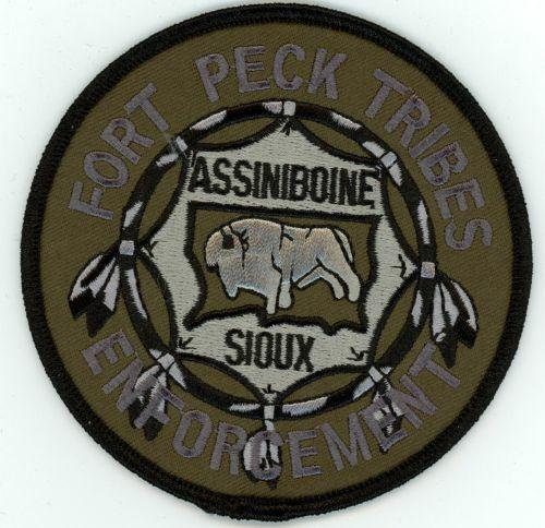 ASSINIBOINE SIOUX FORT PECK TRIBES ENFORCEMENT SUBDUED MONTANA MT NEW PATCH