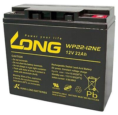 LONG Gel Batterie Blei Akku 12V 22Ah Rasentraktor Aufsitzmäher John Deere Honda John Deere Honda