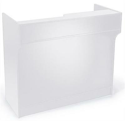 6 White Wooden Knockdown Ledge Top Counter Pos Counter 21d X 42h
