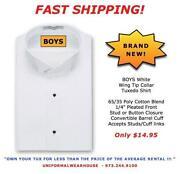 Boys Tuxedo Shirt