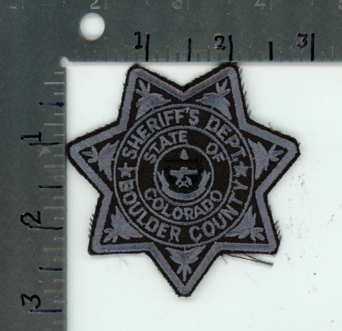 COLORADO CO BOULDER COUNTY SHERIFF NEW PATCH POLICE PICTURE FOR SIZE