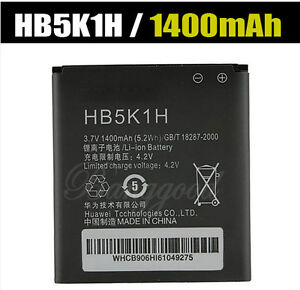 1400mAh HB5K1H Li-Ion Battery Pack for Huawei ASCEND II 2 M865 Sonic U8650 C8650
