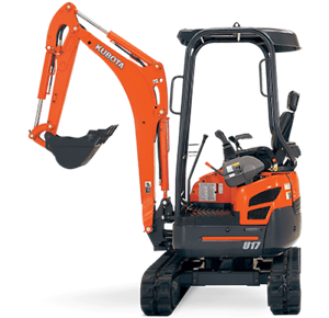 1.7T Excavator Hire - Dry Hire or With Operator