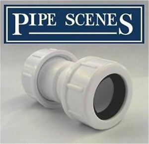 McALPINE Universal Overflow Pipe Connector Coupling fits 19-23mm 3/4