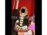 Taylor Irish Dance Dress Black Red Orange Yellow Flames Age 15+ Size 10-14