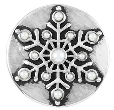 """Ginger Snaps Jewelry """"Pearl Snowflake"""" SN19-12 Buy 4 Get 1 $6.95 Snap Free"""