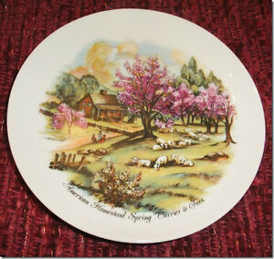 Decorative Plate - Japanese-made American Homestead Spring