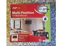 "2 x NEW TV WALL MOUNT - MULTI POSITION - UP TO 25"" - £15 EACH"