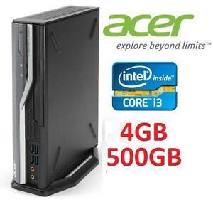 NEW ACER VERITON SFF DESKTOP PC - 109274280 - COMPUTER DESKTOP PC - INTEL i3 - 4GB - 500GB - WIN 7 PRO