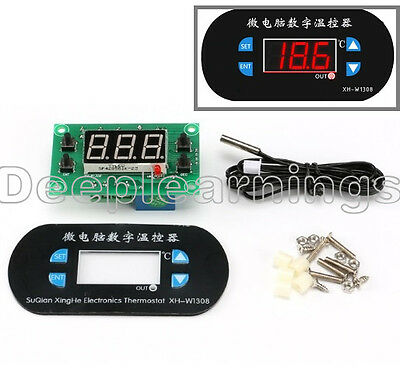 Ac 220v Led Digital Thermostat Temperature Alarm Controller Meter Module Red