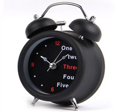 Double Bell Desk Light Modern Mute Silent Alarm Clock