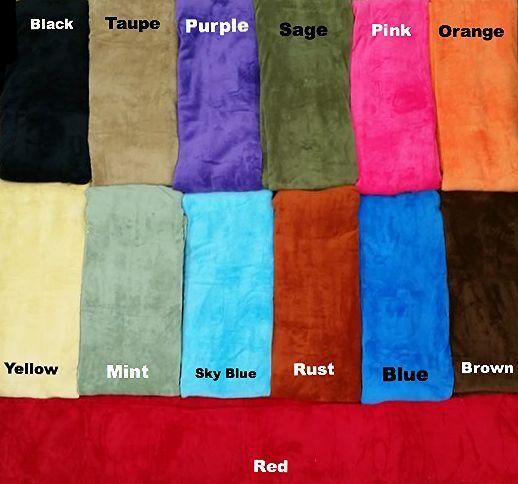 Luxurious Fleece Throw Blanket Super Soft  14 Solid Colors Q