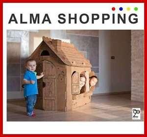 Casa casetta bimbo in cartone da costruire e colorare abitabile ebay - Casetta in cartone da colorare ...