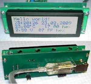 USB-LCD-Textdisplay 4x20 Zeichen, HD44780, I2C, weiss