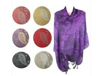 Ladies Pashmina Jacquard Scarf Shawl Wraps Stole Poncho Cover Up Neck Warmer NEW