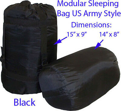 Modular Sleeping Bag US Army Military Style BLACK Blanket Sleep System Camping
