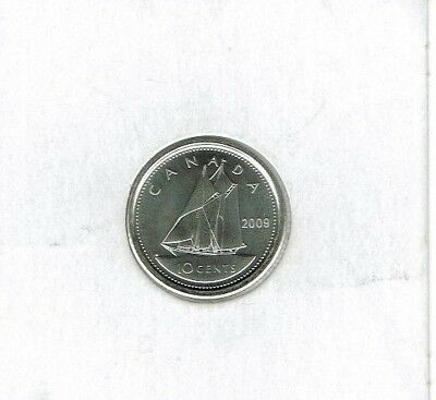 2009 Logo Canada Brilliant Uncirculated Business Strike Ten Cent Coin!