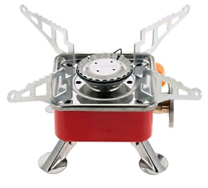 Portable camping gas stove. Home or outdoor.