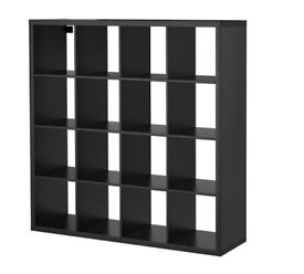 IKEA Expedit/Kallax storage unit - 4x4 in black-brown finish. Good condition