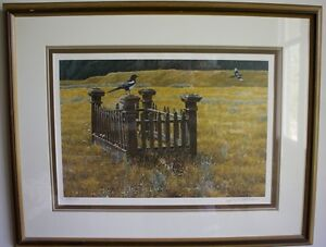 Pioneer Memories Numbered and Framed Print by Robert Bateman Strathcona County Edmonton Area image 1