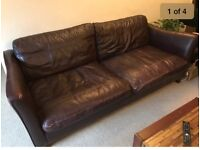 FREE - 3 seater leather sofa and armchair