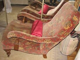 Armchair and footstool Quirky Fixed Recliner Chair- Martin and Frost
