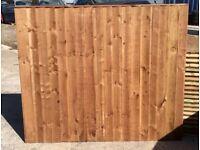 Fence panels pressure treated