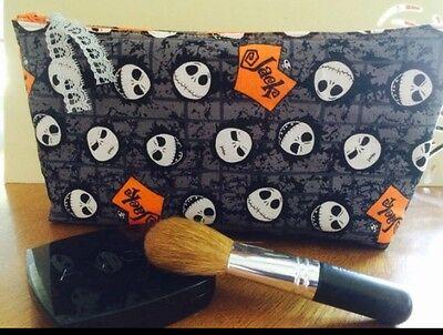 Jack Skellington Make Up (Jack Skellington / Nightmare Before Christmas Handmade Make Up Bag / Art)