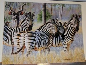 Puzzle of Painting of Zebras (South Africa)