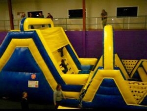 Large inflatable Obstacle course, slide & Jumping Castle