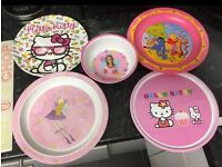 Childrens Melamine plates and bowl