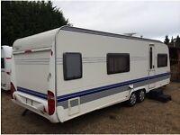 Hobby Caravan 650 Wfu Prestige (2007) Full Size Separate shower/Toilet Across Rear Of Caravan