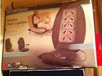 Shiatsu Chair Cushion 4 rotating heated massage heads BNIB