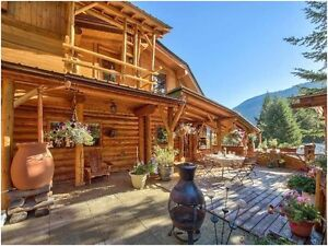 Impressive Log Home on 10 acres, just 8 kms. from Sun Peaks, B.C