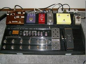 Pedal Board With Line 6 Pod X3 Live and Assorted Effects