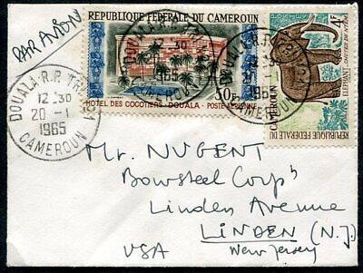 CAMEROON Air Mail Cover 1965 DOUALA To New Jersey USA UPTOWN