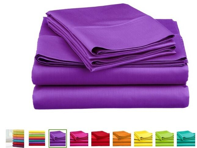 SOLID COLOR BRIGHT NEON WRINKLE FREE SHEET SETS WITH PILLOWC