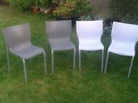 four designer Philippe Starck soft resin garden chairs can deliver