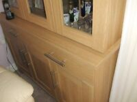 Cabinet with glazed doors plus bottom cupboards