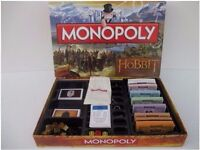 Rare - Monopoly The Hobbit - An Unexpected Journey - Board Game - Complete - Perfect condition