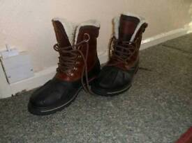 Mens Leather Walking Boots Size 11