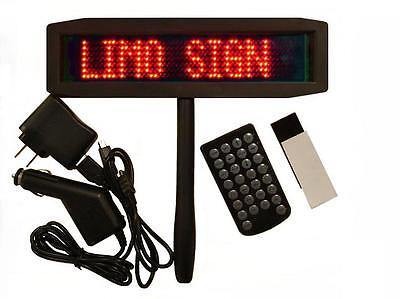 Battery Operated Slim Red Led Programmable Scrolling Sign - Superviewvision