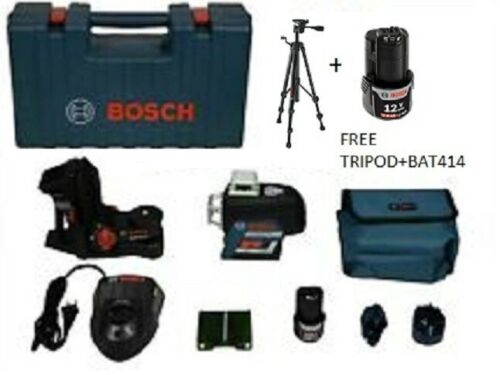 Bosch GLL3-330CG 360º Green Beam Three-Plane w/ free tripod and extra battery