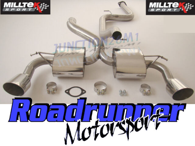 """Milltek Focus RS MK2 3"""" Cat Back Exhaust Stainless Non Res Louder SSXFD068"""