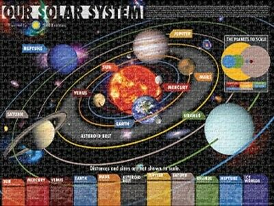 Jigsaw Puzzle Space Astrology Planets Our Solar System 1000 Pieces New