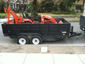 SNOW REMOVAL DUMP TRAILER & KUBOTA