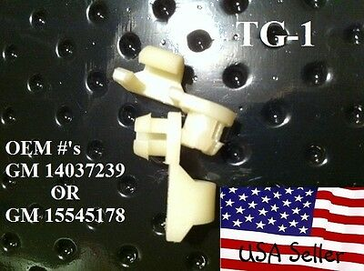 CHEVY AND GMC Tailgate Handle Rod Clips 1981 TO 1998 , 1-PAIR TG1 (K2500 Tailgate Rod)