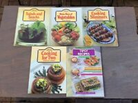 M&S (St Michael) Cookery Library Books, Five/Four book per lot.