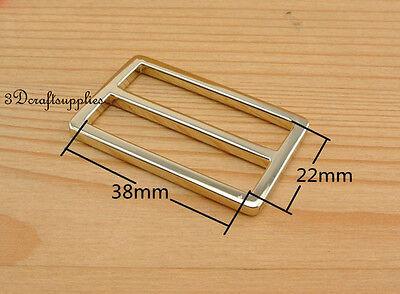 strap adjuster rectangle sliders alloy light gold 38 mm 1 1/